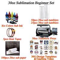 20 30-Unzen Sublimation Machming Wärmepresse Maschine Drucker Geeignet für geradlinige Tumbler