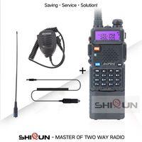 Baofeng 8W UV-5R Walkie Talkie Ampliar 3800mAh Bateria Tri High Mid Baixa Baixa Dual Band UHF VHFBAOFENG UV5R Dois Way Radio UV 5R