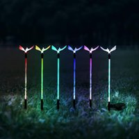 Solar Lamps 6 LED Butterfly Lamp Waterproof Powered Color Lawn Outdoor Landscape Lighting Garden Light For Home Decor