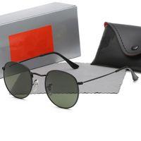 2021 дизайнерские мужчины женщины для солнцезащитных очков старинные пилотные бренд группы UV400 защита Бен открытый круглый солнцезащитные очки с корпусом R47