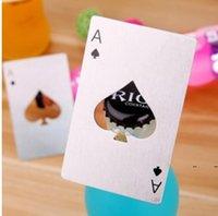 Paslanmaz Çelik Şişe Açacağı Bar Yemek Poker Oyun Kartları Maça Araçları Mini Cüzdan Kredi Kartı Açıcılar Mutfak Aletleri FWF8140