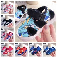 2021 Velcro Hollow Children Sandal Shoes Boy Girl Creek Shoe Kids Outdoor Beach Trainer Sneaker
