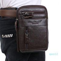 New Men Cross Body Genuine Leather High Quality Vintage trend Messenger Shoulder Bag Belt Waist Pack Phone Bag wallet1
