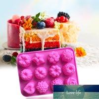 12 شبكات سيليكون قالب النباتات النباتات الحلوى الحلوى الحلوى جيلي القمر كعكة العفن diy المعجنات خبز كعكة أدوات