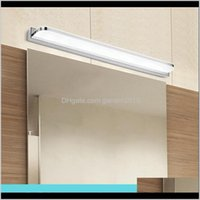 9W 12W Modern Bathroom Stainless Steel Led Front Light Makeup Wall Vanity Lighting Fixtures Mirror Lamp Z8W63 Rdtet