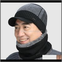 Headwears Athletic Outdoor Accs Sports & Outdoors Drop Delivery 2021 Sandman High Quality Cotton Fur Brim Winter Hats Skullies Beanies For Me