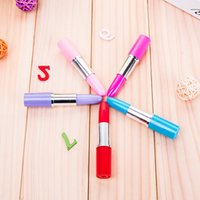 Ballpoint Pens Cute Lipstick Point Kawaii Candy Color Plastic Ball Pen Novelty Item Stationery 5 Colors Free DHL BU1S