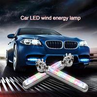 3 لون بطاقات الرياح ضوء السيارة 8 الصمام ضوء مصباح المصباح ضوء التصميم السيارات ضوء تشغيل ضوء دون امدادات الطاقة الخارجية