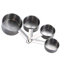 4pcs 스테인레스 스틸 측정 컵 도구 쌓을 수있는 커피 우유 분말 조미료 측정 숟가락 세트 홈 부엌 베이킹 도구 GWB6775