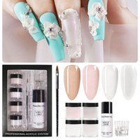 For Nail Extension Acrylic Brush Art Starter Kit Powder With...