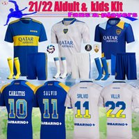 21 22 Boca Maradona Tevez Futebol Jersey Juniors Juniors Kit Alexis de Rossi 2021 2022 Ventiladores Jogadores Carlitos 3rd Camiseta Futbol Football Kids Sets