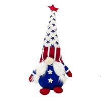 Patriotische Gnome Geschenke Independence Day Urlaub Dekoration Handgemachte skandinavische Tomte Elf Zwerg Gnomes Plüsch Puppe owd5972