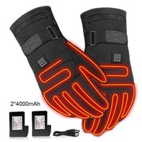 Ski Gloves USB Electric Heated 3.7V 4000 MAh Rechargeable Battery Powered Hand Warmer For Hunting Fishing Skiing Motorcycle Cycling