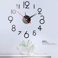 Wall Clocks Mute Home Decoration Clock Relogio De Parede Casa Digital DIY Acrylic Creative 3D Mirror