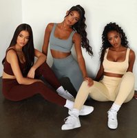 Designer Yoga Sportwear Tracksuits Fitness Gymshark bra Align Leggings 2 Piece Set outdoor outfits Sports Clothing Athletic Elastic yogaworld tech fleece for girl