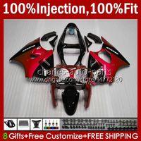 OEM inyection metal rojo nuevo molde para kawasaki ninja zzr600 600cc cuerpo 100% ajuste 600 cc 05-08 carrocería 38HC.134 ZZR 600 05 06 07 08 ZZR-600 2005 2006 2007 2008 Full Fairing