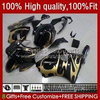 Injection Fairings For KAWASAKI NINJA ZX1200 ZX 12R 1200CC 1200 CC ZX1200C ZX 12 R 02-06 3No.28 ZX12R 02 03 04 05 06 ZX-12R 2002 2003 2004 2005 2006 OEM Body Kit golden flames