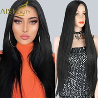Wigs Aisi Beauty Synthetic wigs Long rights Black For women Natural middle Heat resistant Brown Red