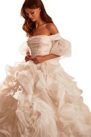 Graceful White Wedding Dresses Multilayered Ruffles Bridal Gowns Gorgeous Off Shoulder Floor Length Women Marriage Brides Dress Vestido de novia Custom Made