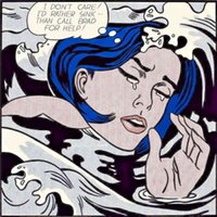 Boyama Roy Lichtenstein Yağı Tuval Üzerine Pop Art Duvar Dekor Soyut Boğulma Kız Ev Oturma Odası Için Büyük Resim 190922