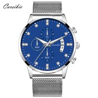 손목 시계 큰 파란색 다이얼 손목 망 온라인 시계
