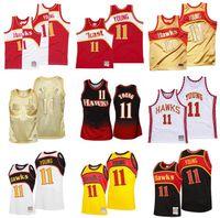 Kundenspezifische genähte Basketball-Trikots TRAE 11 Junge Jersey Mitchell Ness 2020-21 Hardwoods Classics Retro Männer Frauen Jugend S-6XL Wear