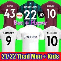 20 21 Leeds United  Bamford Futebol Jerseys Leeds Home Away Terceiro 2020 2021 Rodrigo Koch Costa Alioski Phillips Homens + Kids Football Shirt Tailândia