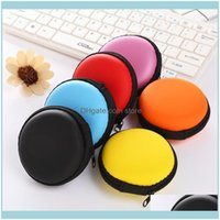 Organizer Bags, Lage & Aessoriesmini Earphone Bag Headset Headphone In-Ear Earbud Case Small Round Hard Eva Zipper Storage Carrying Pouch Dr