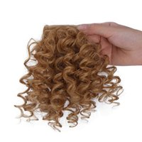 Synthetic Puff Afro kinky Bang & Bun Hair Extension With Ponytail