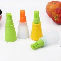 bottle brush kitchen tool kit barbecue set silicone baste brush soft flexible multi colors available kitchen accessory EWF9147