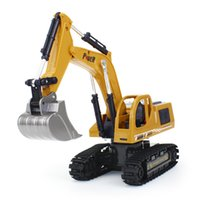 Metal engineering vehicle wireless remote control excavator five pass simulation model sand digging children's toys