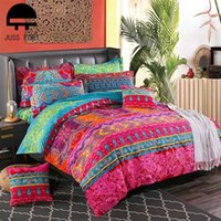Bedding Sets Home Textiles Duvet Cover Bed Sheet Pillowcase 3 4Pcs Fashion Ethnic Style Brushed Comforter Quilt Covers Supplies