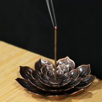 Lotus-shaped Incense Burner Tray Buddhist Stick Holder Soot Buddha Hall Household Accessories Fragrance Lamps