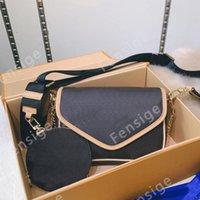 Multi PoChette Chain Womens Designer Crossbody Bag Clássico Flor Luxurys Designers 2 Set Round Coin Bolsa Bolsa M56461 M51703