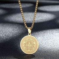 قلادة قلادة الفولاذ المقاوم للصدأ مطلية بالذهب الفضة رائعة أسطورة medusa gorgon سلسلة الإناث الذكور القديم اليونانية رمز الهيب هوب المجوهرات