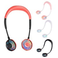 Electric Fans 2 Pack USB Hands-Free Hanging Neck Fan 2000MAh Mini Personal Portable Cooling For Adult And Children