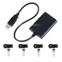 TPMS USB auto portatile con 4 sensori interni per auto aftermarket DVD Radio Pneumatico per pneumatici Sistema di allarme Auto