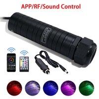 Phare de voiture RVB Hear Star Lights Lights LED Fibre optique Plafonnier Kits de lumière RF Télécommande 6W Optique avec application