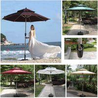في الهواء الطلق الألومنيوم الباحة حديقة مظلة مع تهز الشمس umberellas طاولات القطار والكراسي مع دعم القطب شاطئ HH21-210