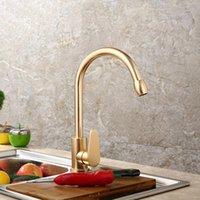 Kitchen Faucets Gold Faucet Space Aluminum Single Handle Cold Water Vessel Sink Basin Tap Mixer Torneira Cozinha
