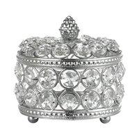 Watch Boxes & Cases Crystal Jewelry Box Iron Art Plating Storage Desktop Organizer