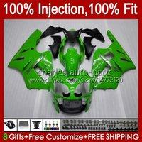 Injection mold Fairings For KAWASAKI NINJA ZX1200 C ZX 1200 12R 1200CC ZX 12 R 1200 CC 00-01 Bodywork 2No.23 ZX1200C ZX12R 00 01 ZX-12R 2000 2001 OEM Body Kit green factory