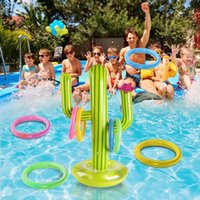 Summer Playing Swimming Toy Pool PVC Inflatable Cactus Tossing Game Set Floating Toys Beach Party Supplies Travel 0247