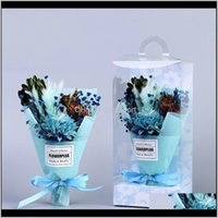 Decorative Wreaths Festive Party Supplies Home Garden Drop Delivery 2021 Flower Artificial Dried Flowers Mothers Day Mini Bouquet Pvc Gift Bo