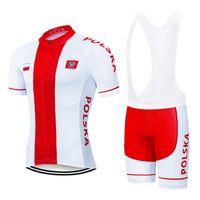 2021 Polonya Bisiklet Jersey 20D Jel Seti MTB Bisiklet Giyim Bisiklet Giysileri Ropa Ciclismo Erkek Kısa Maillot Culotte Suit
