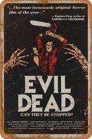 The Evil Dead Horror Film Affiche Vintage Tin Signes Metal Sign Affiche Rétro Plaque Plaque Plaque Murale Pour Bar Café Jardin Chambre à coucher Q0723