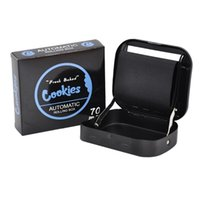 Cookies Cigarros Roller 70mm Metal Manual Padrão Handheld Rolo Automático Rolling Colling Color Cigarro Metal Caixa