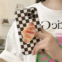 Bread Grid Cell Phone Cases For Apple iphone 12promax 11 xr Protector With Holder Grip