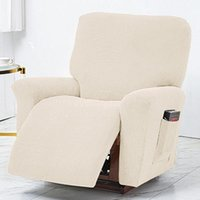 Chair Covers Armchair Sofa Couch Cover All-inclusive Recliner Slipcover Elastic Lounge Single Seat Protector Solid Color Case