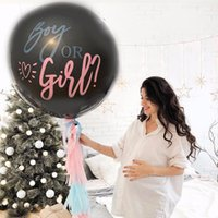 Party Decoration 36 Inch Boy Or Girl Balloon Perfect Circle Gender Reveal Balloons Shower Baby Layout I9W5